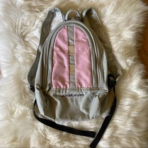 MINI DAKINE LIGHT PINK GREY BACKPACK